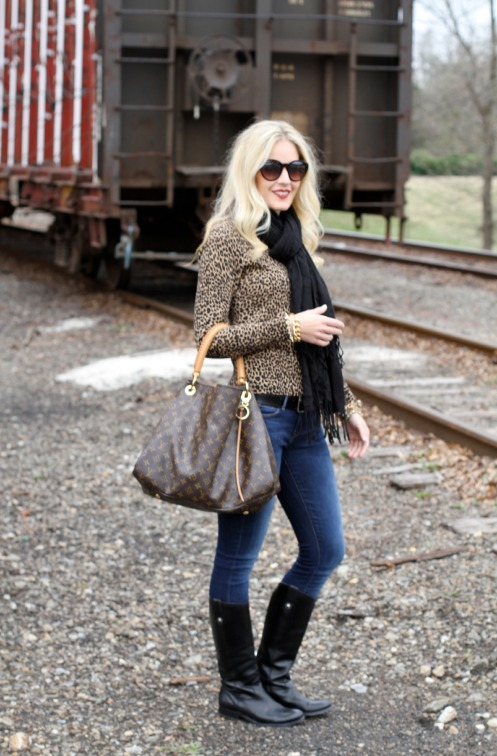 leopard sweater and black scarf on calicrest.com.jpg