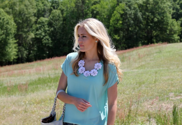 Kate Spade Earrings and Flower Statement Necklace on CaliCrest.com.jpg