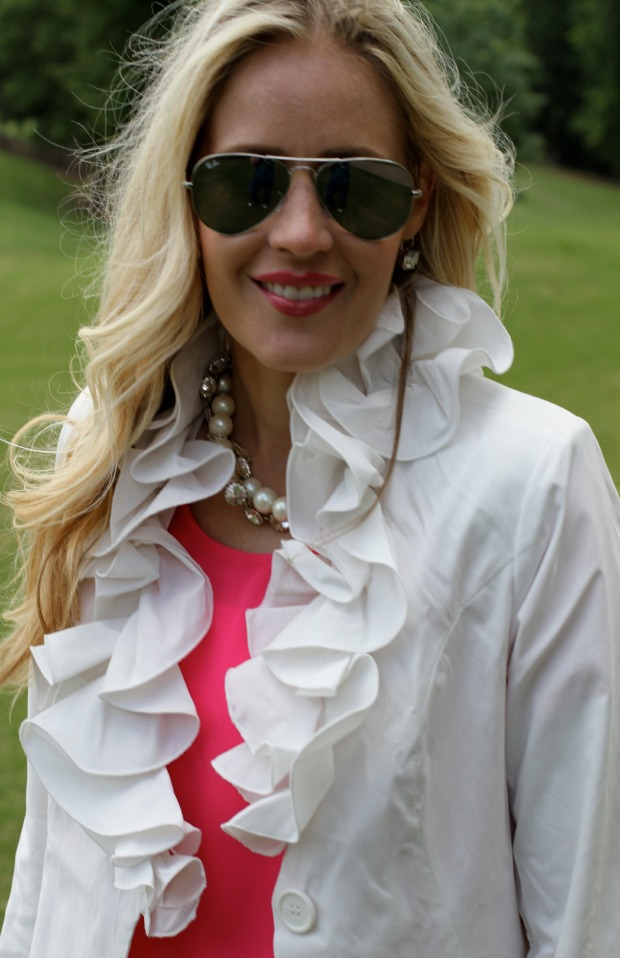 Ray-Bans and a ruffle raincoat on calicrest.com.jpg