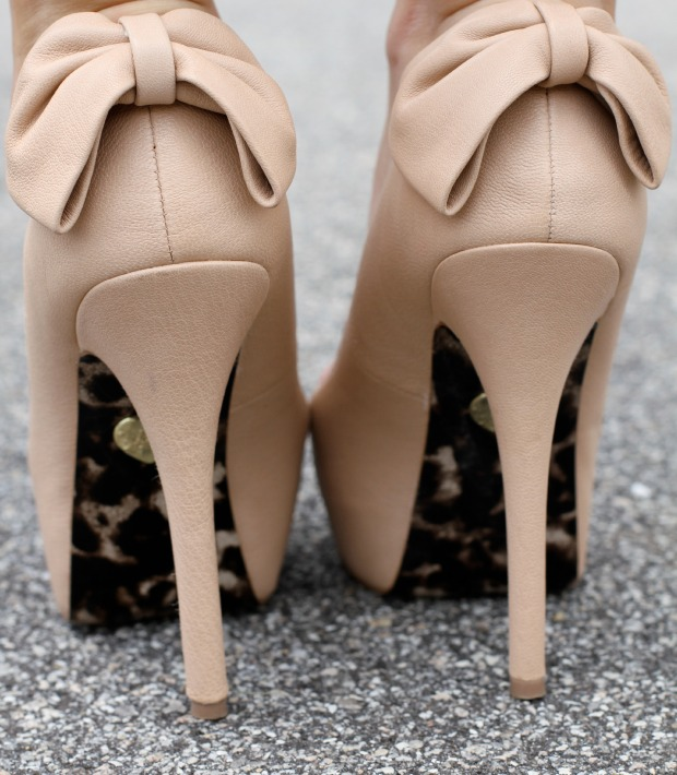 Betsey Johnson Nude Bow Heels on CaliCrest.com