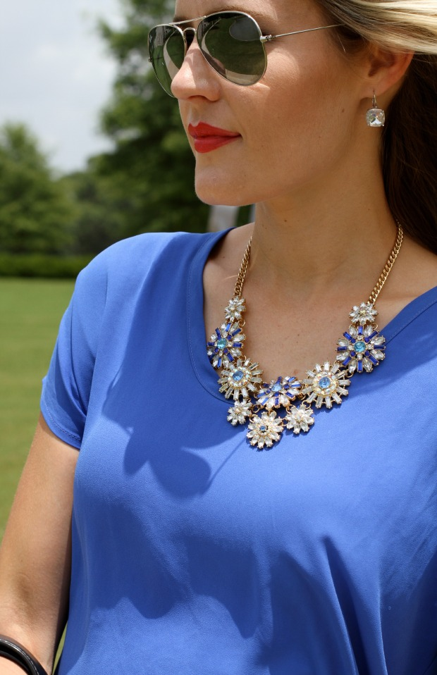 Blue Ily Couture Statement necklace on CaliCrest.com
