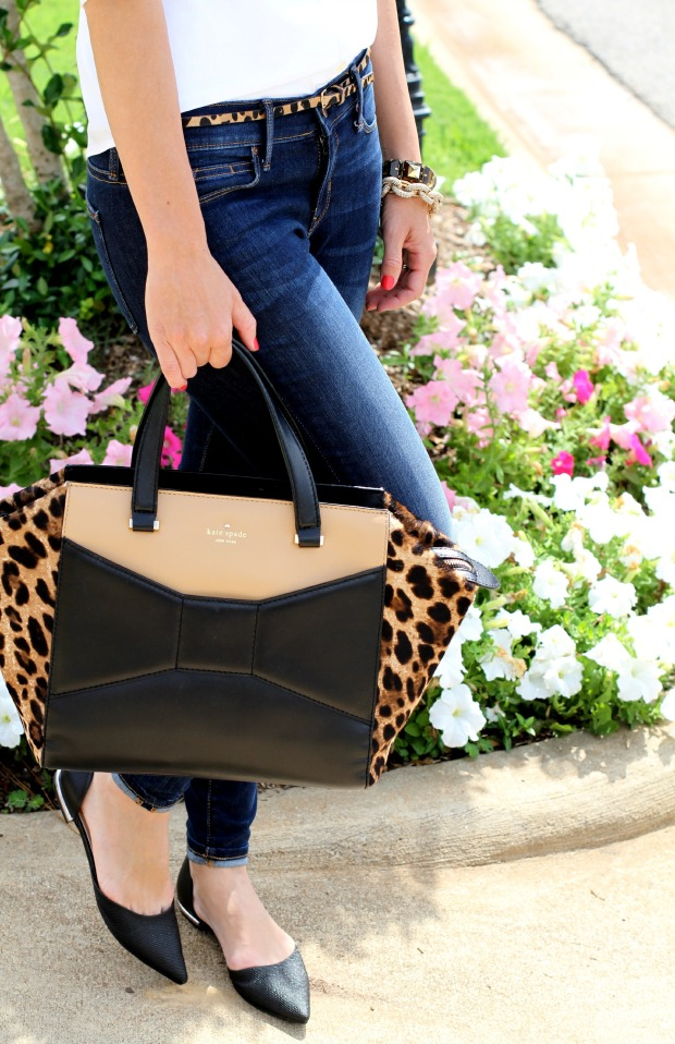 Leopard Kate Spade Beau Bag with Sam & Libby flats from Target on CaliCrest.com.jpg