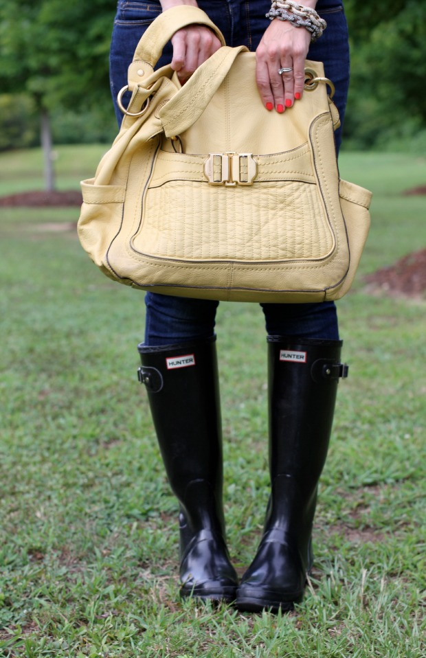 Yellow Bag and Hunter Boots on CaliCrest.com