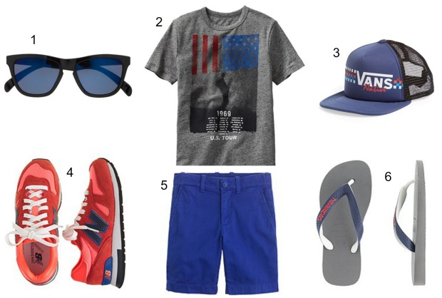 4th of July outfit for boys on CaliCrest.com