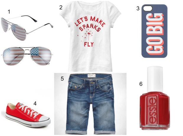 Tween Girls Fourth of July outfit on CaliCrest.com