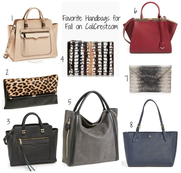 Favorite Handbags for Fall on CaliCrest.com