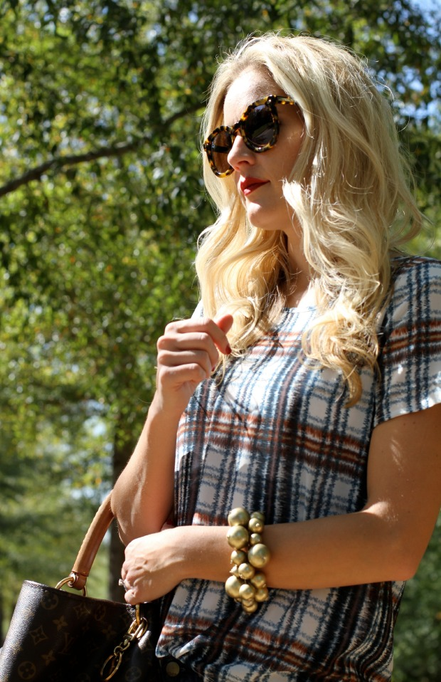 Anthropolgie Plaid Shirt and Accessories on CaliCrest.com