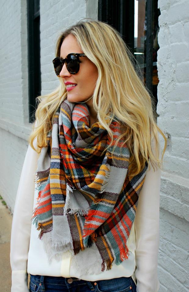 Fall Blanket Scarf on CaliCrest.com