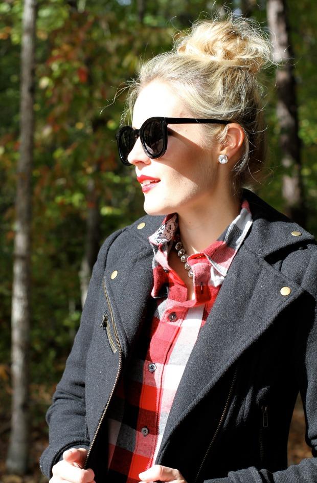 MAC Ruby Woo Lipstick and Karen Walker Sunglasses on CaliCrest.com
