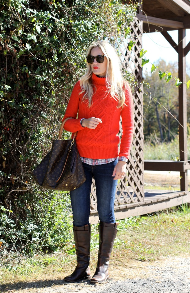 Red + White + Blue Fall Style on CaliCrest.com