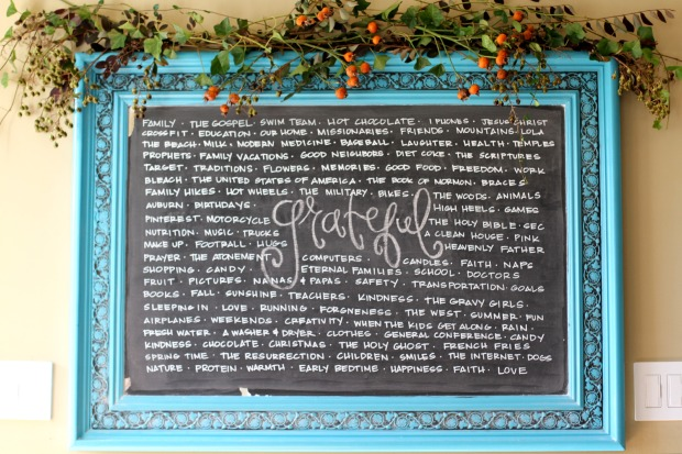 Thanksgiving Chalkboard on CaliCrest.com