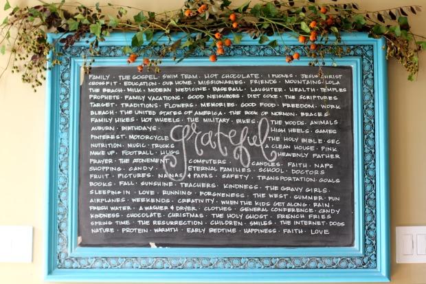 Thanksgiving Chalkboard on CaliCrest.com