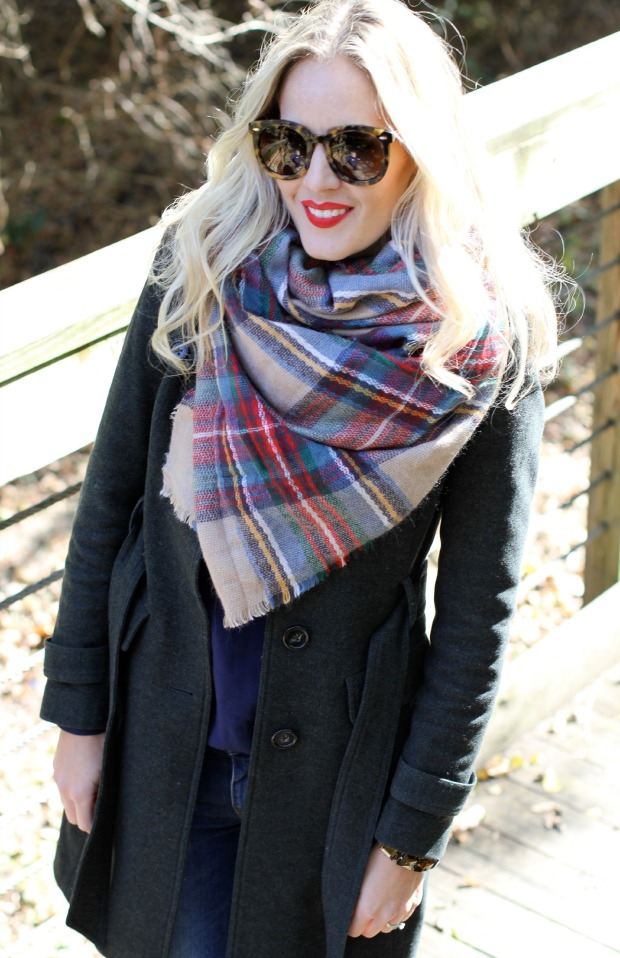 Zara Plaid Scarf on CaliCrest.com
