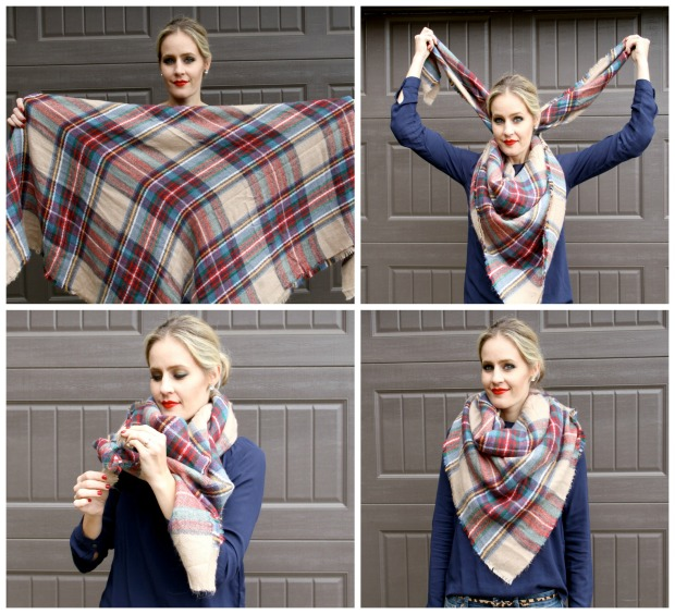 How to tie your blanket scarf on CaliCrest.com
