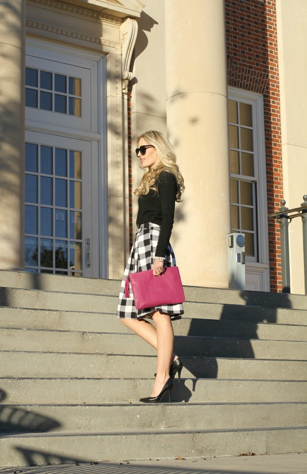 back and white buffalo skirt on clarets.com