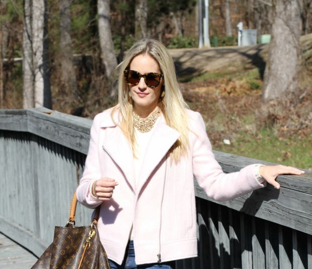 Pink Moto Jacket on CaliCrest