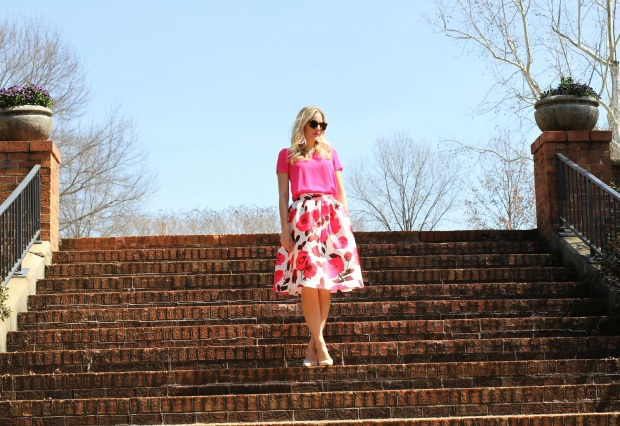 Pink Rose Skirt on CaliCrest