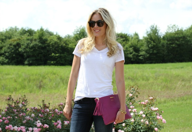 White T-Shirt and Jeans on CaliCrest.com