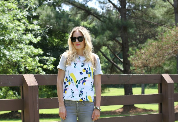 Floral Anthropologie Shirt on CaliCrest.com #spring #style