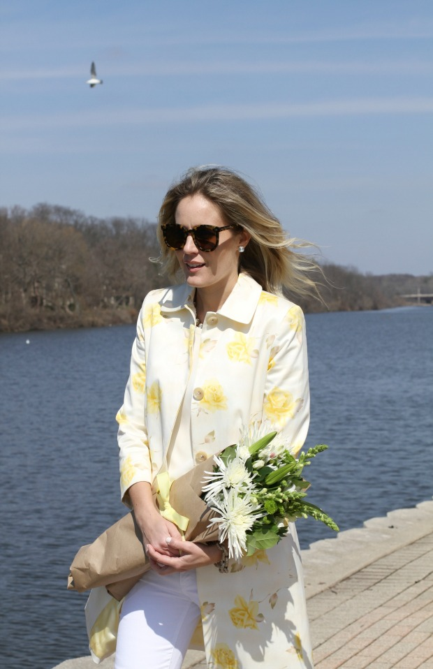 Spring Style on calicrest.com with this Banana Republic floral jacket and pretty flowers.