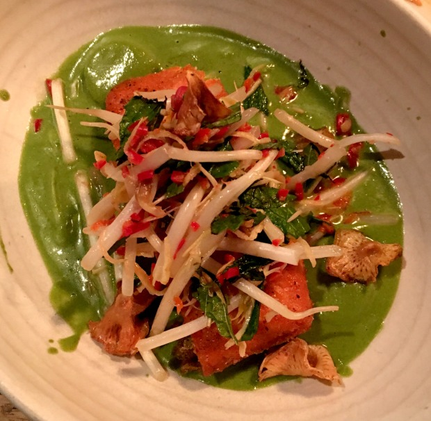 Green Curry Salmon at Girl & The Goat on CaliCrest